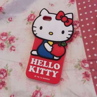 Apple iPhone 5s SE 正版 三麗鷗 Kitty 大頭防摔軟殼 保護套 手機殼