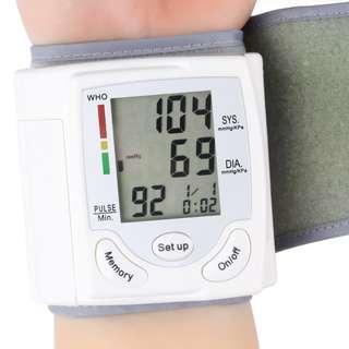 BNIB 3 Design for Digital LCD Automatic Wrist Blood Pressure Monitor