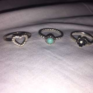 Assorted Pandora Rings