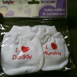 mitten and bootee set (reserved)