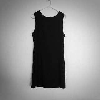 St Lenny 60's Black Shift Dress