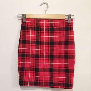 Tartan Plaid Print Mini Skirt
