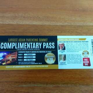Asian Parenting Summit ticket