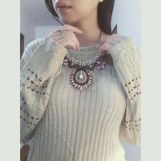 Brand New Boho Statement Necklace & Preloved Sweater