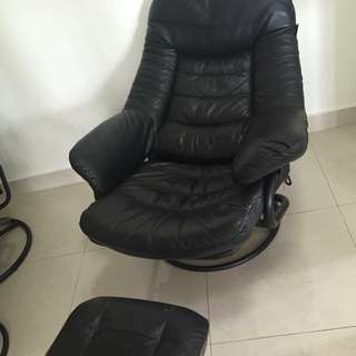 Recliner Chairs with Ottoman - 2 Sets