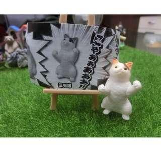 扭蛋 動物勝利姿勢 貓