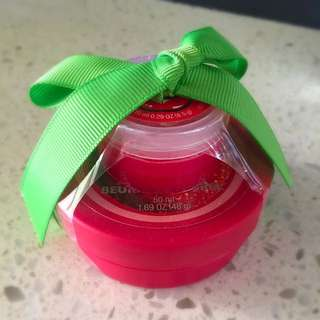 Brand New The Body Shop Strawberry Butter Lip Set