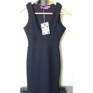 Size 8 - Boohoo Fitted Black Dress
