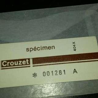 "Crouzet 1st USA Test Card""  Card A """
