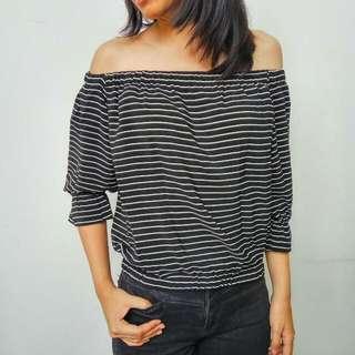 Stripe Sabrina Black