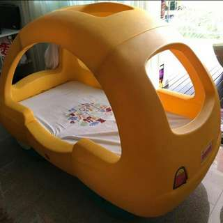 💛TODDLER CAR BED 💚 ( LITTLE TIKES )