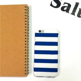 ✨現貨免運✨blue 海軍風 藍白條紋 磨砂iPhone 手機殼