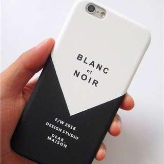 ✨現貨免運✨黑白間隔 文青 質感 磨砂iPhone 手機殼