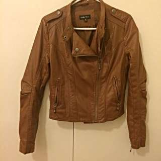 Faux Leather Jacket (size 10)