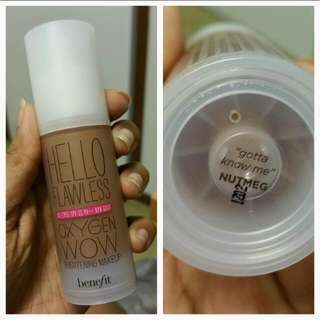 Benefit Hello Flawless Oxygen Wow Liquid Foundation In 'Nutmeg'