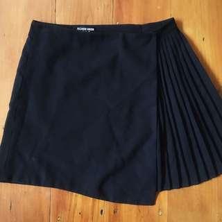 black netball style skirt