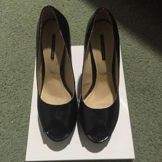 Tony Bianco Patent Black Heels