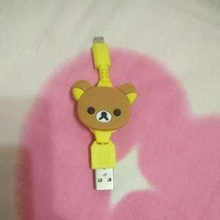 未使用啦啦熊充電線