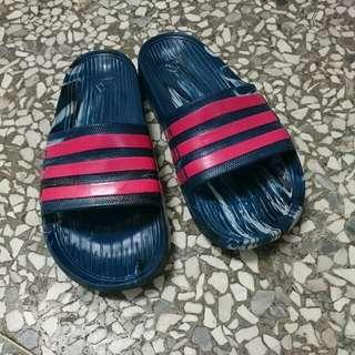 Adidas 大理石 深綠拖鞋
