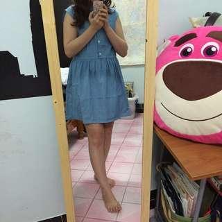 藍色洋裝 正韓