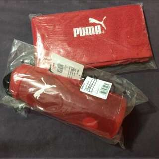 BN Puma Bottle And Face Towel