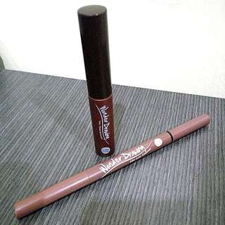 Holika Holika Wonder Drawing 24hr Auto Eyebrow Pen 04 & 1sec Finish Browcara 03