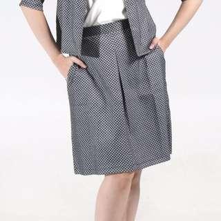 Stacee Midi Skirt in Grey