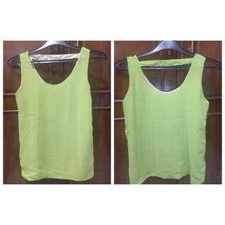Chiffon Green Tank Top