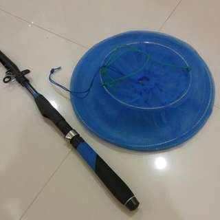 Fishing Rod And Net Container