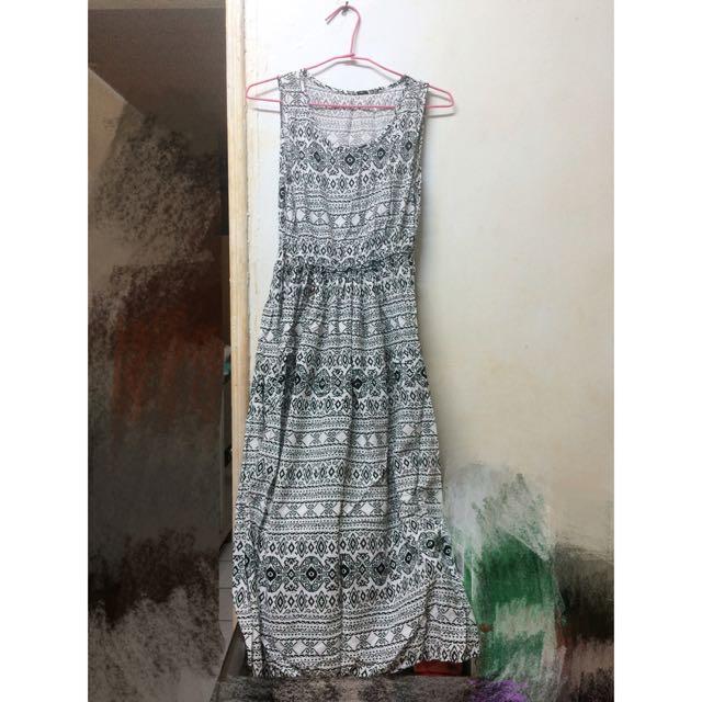 棉質圖騰長裙