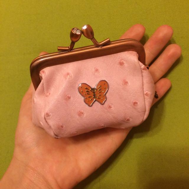粉紅蝴蝶零錢包