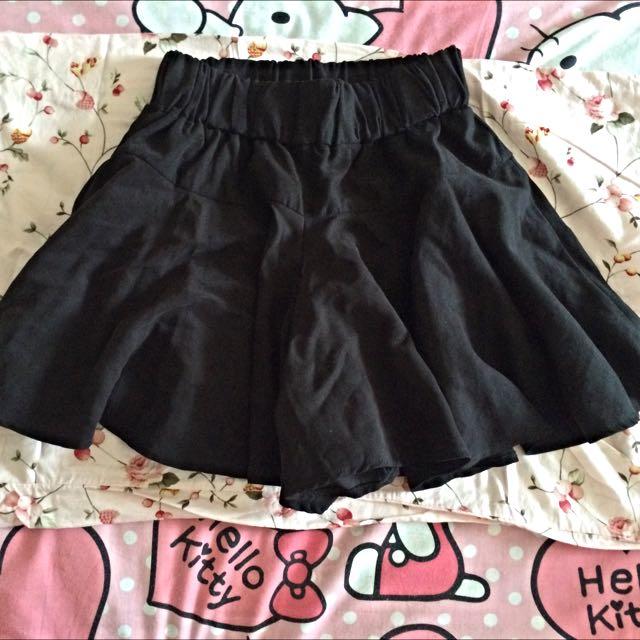 百搭鬆緊黑色褲裙 正韓🇰🇷貨
