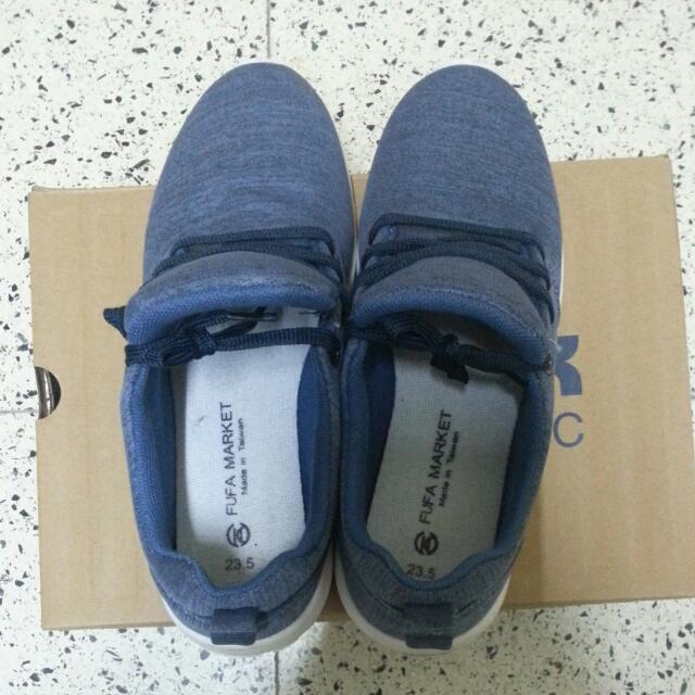 降價/免運/富發牌 嚴選繫帶平底休閒鞋 藍色
