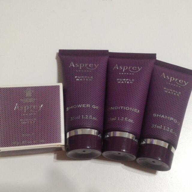 英國皇室御定品牌 Asprey Purple Water旅行組