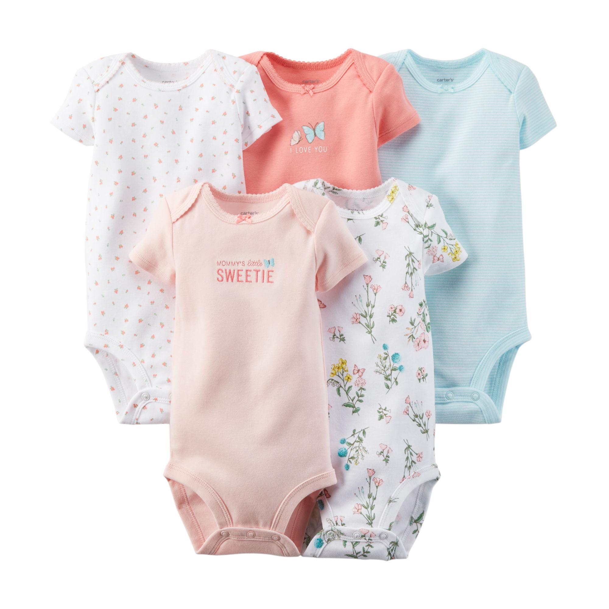 15b8d5f32 BN Carter's 5-Pack Short-Sleeve Bodysuits, Babies & Kids on Carousell