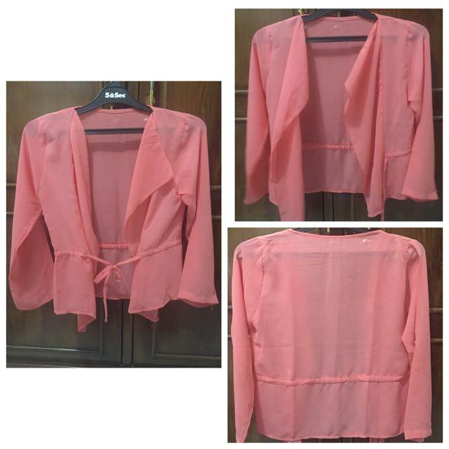 Chiffon Pink Cardigan