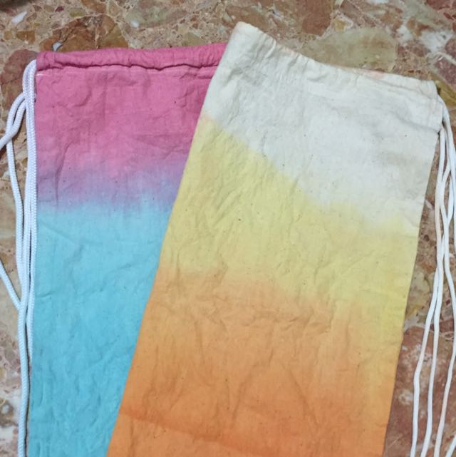 DIY Dip-dye Drawstring bag