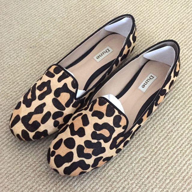 Dune Leopard Print Slipper Slip-On Flats Size UK 7