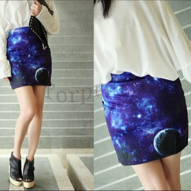 Galaxy Bodycon Skirt