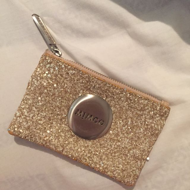 Gold Glitter Mimco Pouch