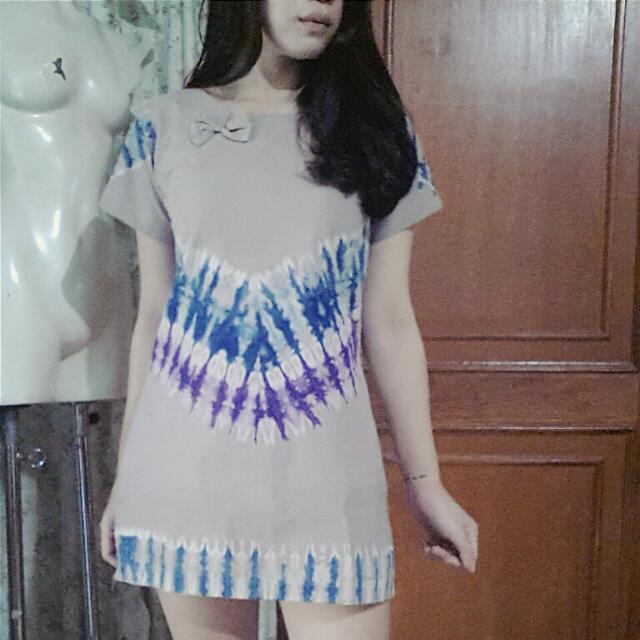 Jumputan (Tie Dye) 60s Mod Top / Mini Dress