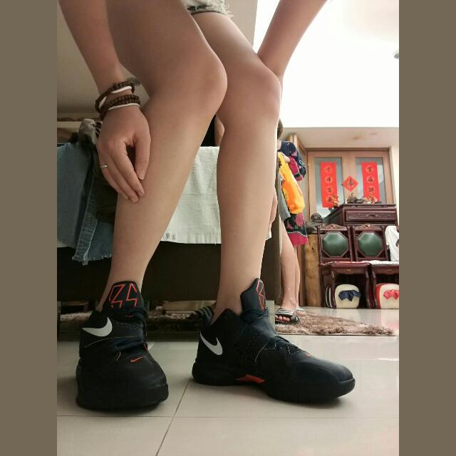 經典靛色KD 4代 童鞋大碼是女孩兒的