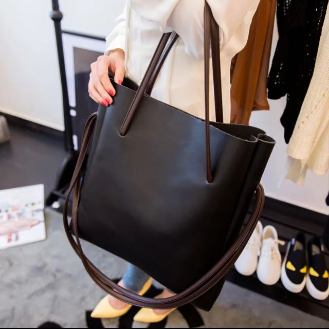 Minimalist Cly Tote Bag Handbag Office Work