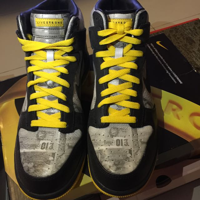 pretty nice df86b d2f9a NIKE DUNK HIGH FLOM Livestrong US 8.5, Sports on Carousell