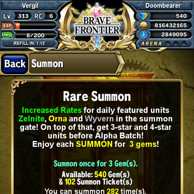 Primitive Core Tiered Brave Frontier Account