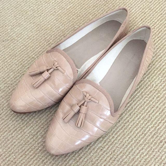 Zara Nude Slipper Flats with Tassels Size 40