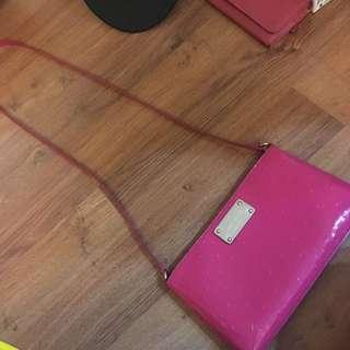 Preloved KATE SPADE Neon Pink Jelly Sling Bag