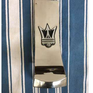 Vespa stainless steel nose with maserati logo(rare)