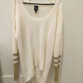 Cotton On Gold And Cream Sweater