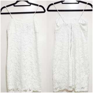 Topshop White Sexy Lace Dress (XS-S)